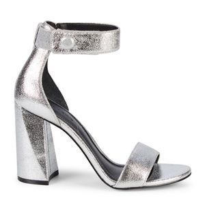 Kendall and Kylie silver sandal heel